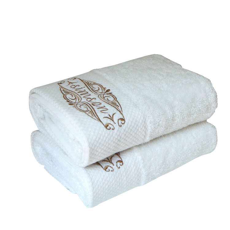 Embroidery Bath Towels 100% Cotton 500gsm