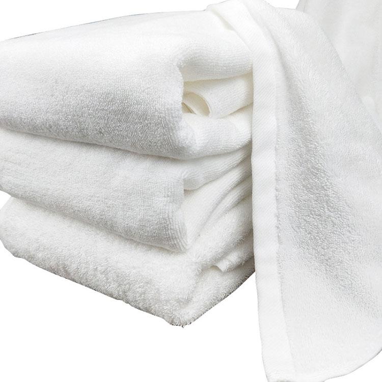 100% Cotton Soft Absorbent 5 Star Hotel Plush Luxury White Bath Towel