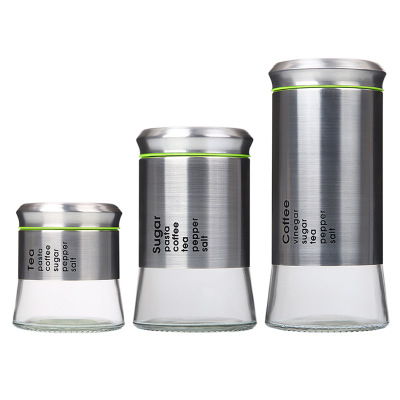 Stainless Steel Airtight Kitchen Coffee Bean Miscellaneous Food Storage Tea Caddy