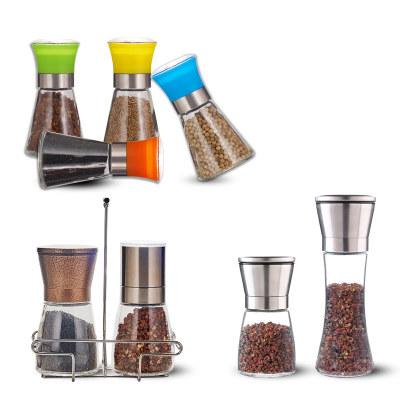 Stainless Steel Seasoning Jar Household Pepper Manual Grinding Bottle