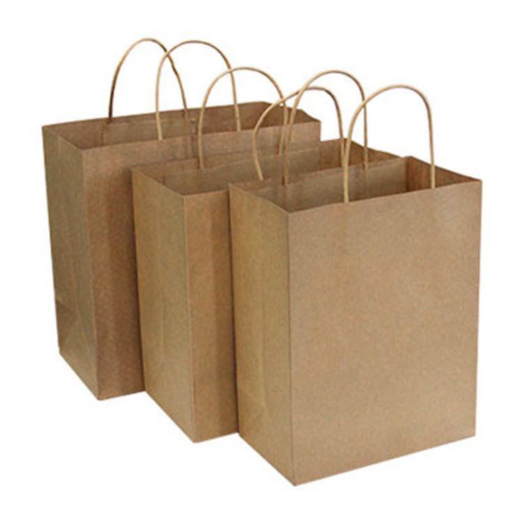 Logo Takeaway Food Gift Kraft Paper Bag