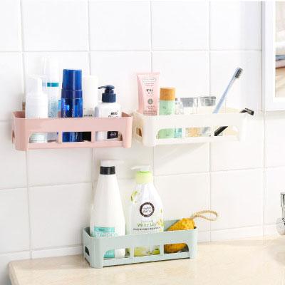Plastic Suction Cup Bathroom Corner Storage Rack