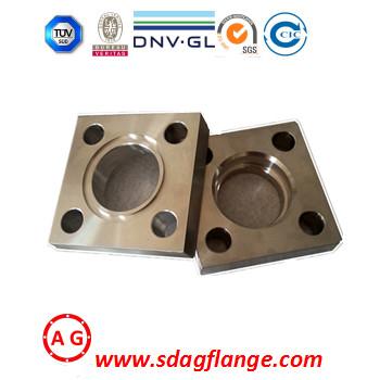 Flangia quadrata ringhiera SGS su misura ISO9001 BV