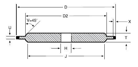 14A1 diamond grinding wheel