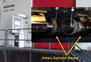 rotary diamond dresser