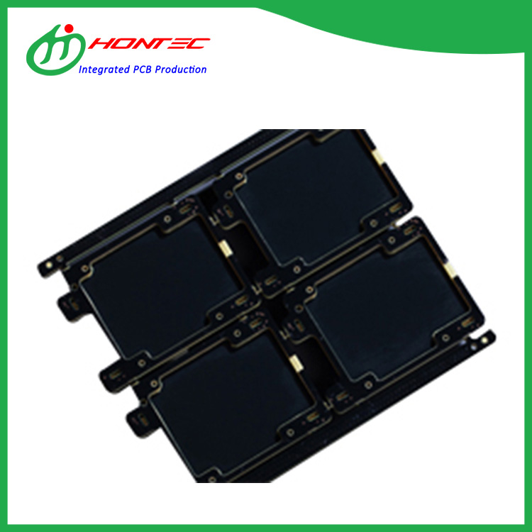 Placa de circuito HDI negro mate