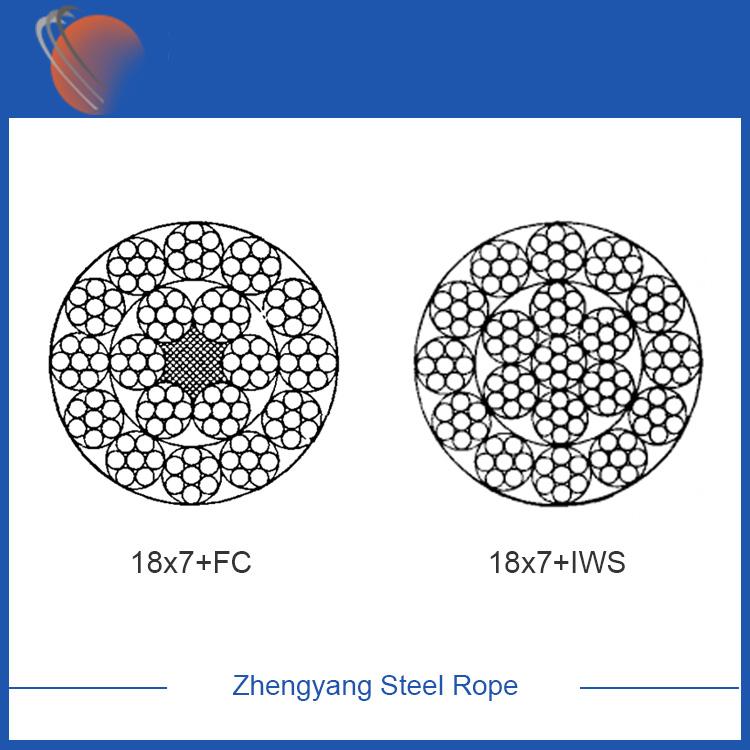 18x7 galvanized steel wire rope