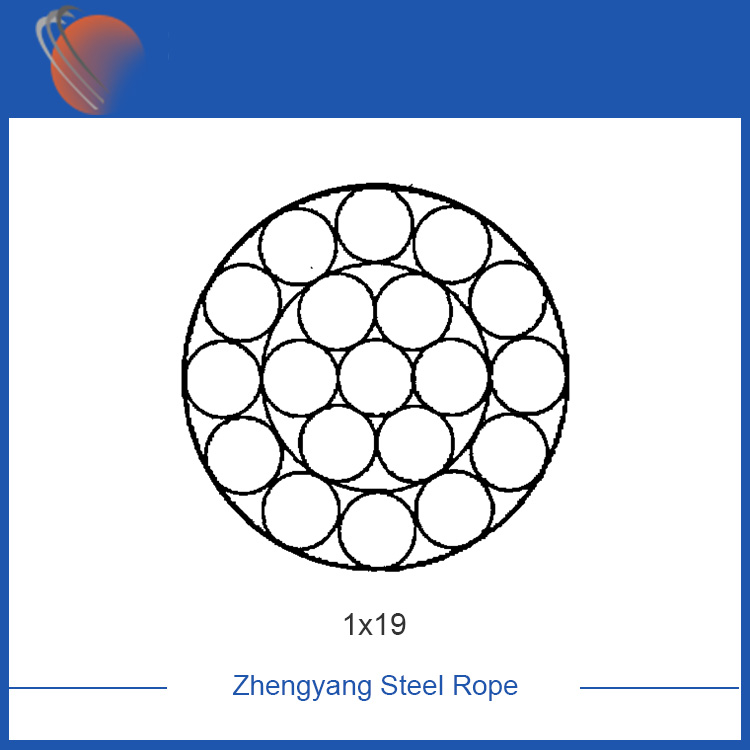 1x19 galvanized steel cable