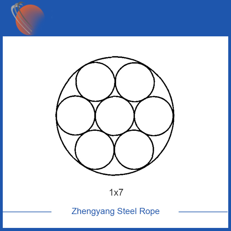 1x7 steel cable