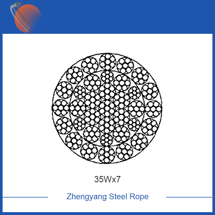 35Wx7 ungalvanized steel wire rope