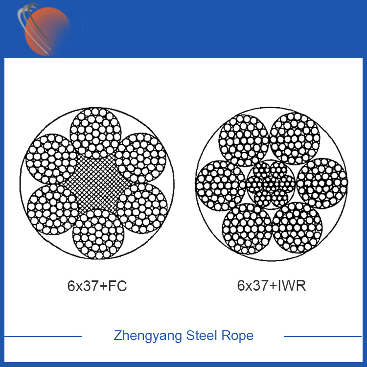 6x37+FC Galvanized Steel Wire Rope