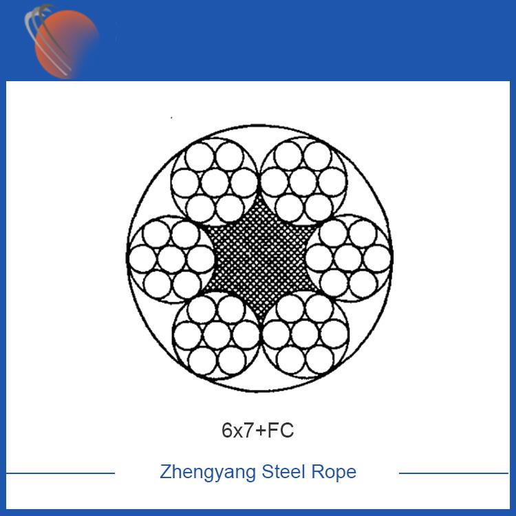6x7+FC galvanized steel wire rope