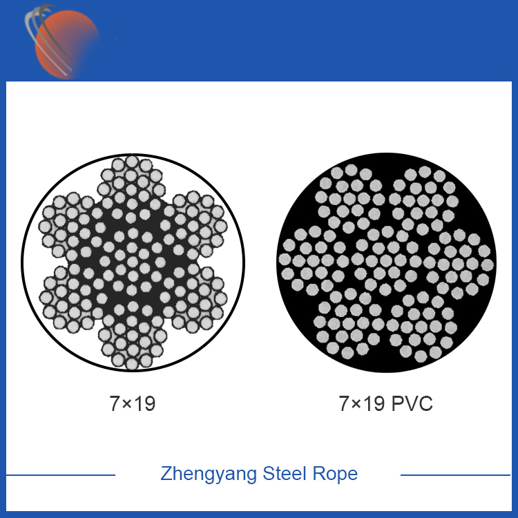 7x19 galvanized steel wire rope