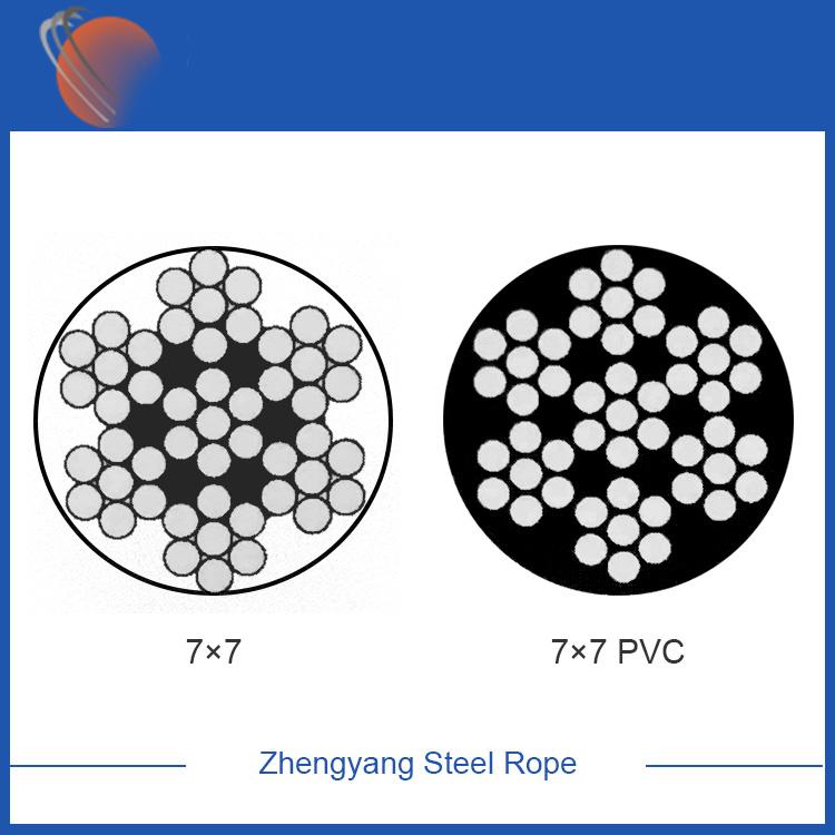 7x7 galvanized steel wire rope