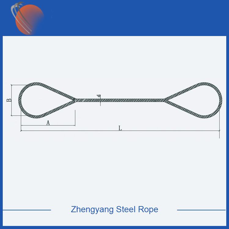 hand spliced wire rope slings