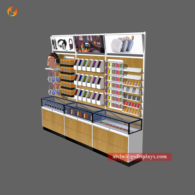 Cell Phone Shop Wall Cabinet