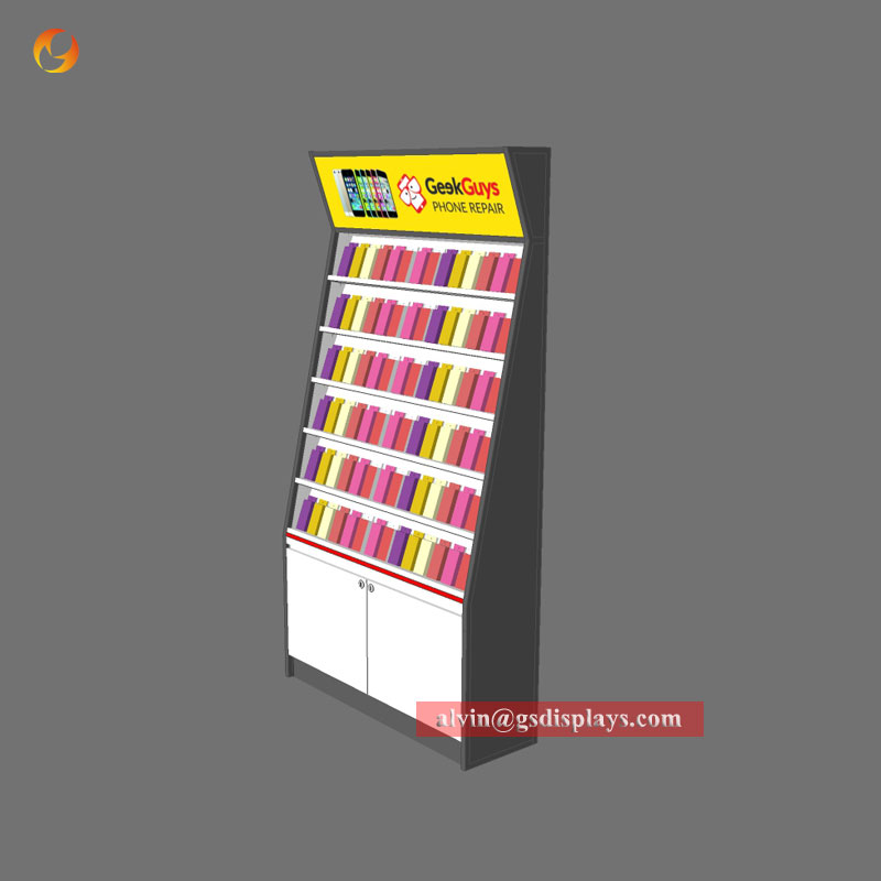 Cell Phone Shop Wall Display Cabinet