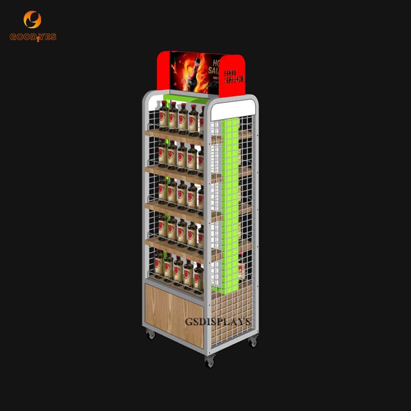 Hot Sauces Rack Displays