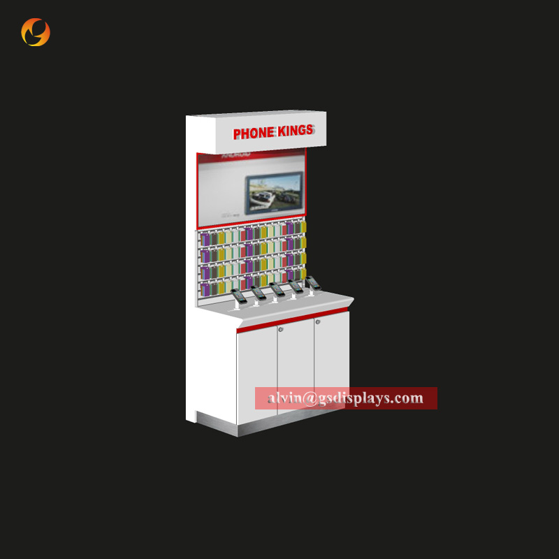 Retail Phone Store Chain Store Wall Cabinet