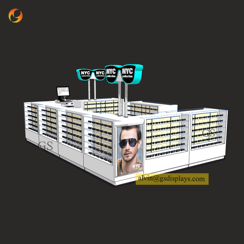 Mall Eyewear Display Kiosks
