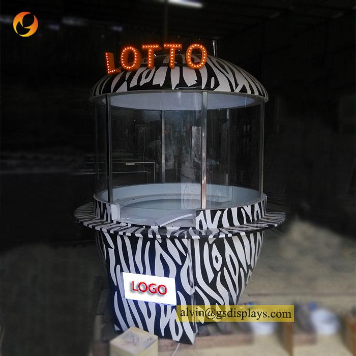 Mall Lotto Retail Small Wood Display Kiosk