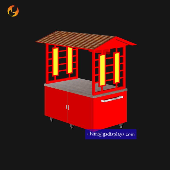 Moveable Outdoor Cold Drink Cart