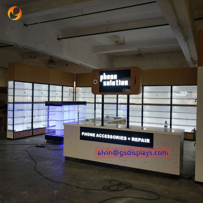 New Design Mobile Phone Cases Store Display Showcases