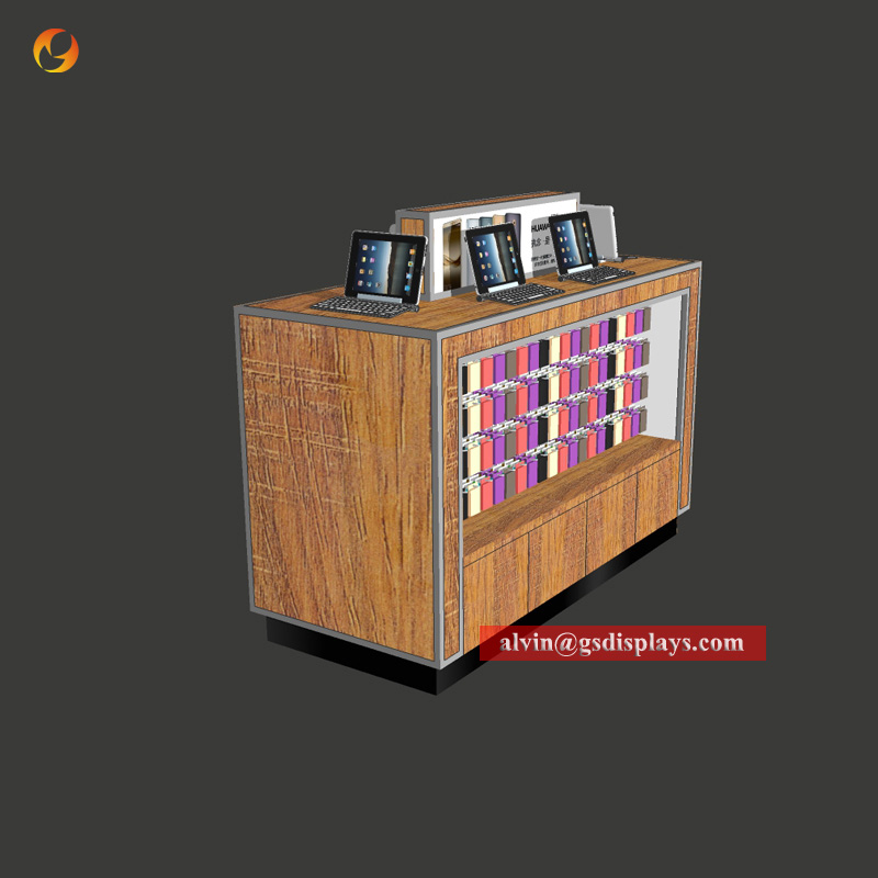Phone Metal And Wood Boutique Counters