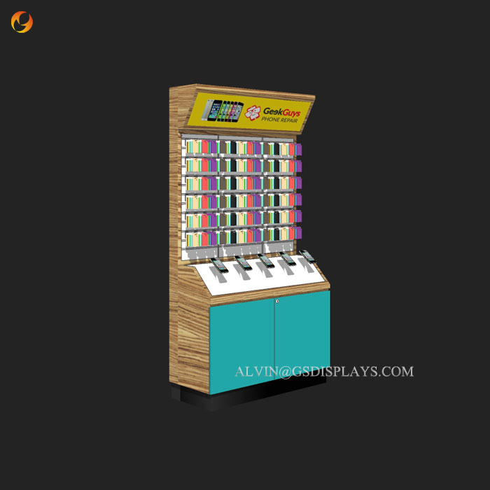 Retail Mobile Phone Boutique Wall Cabinet
