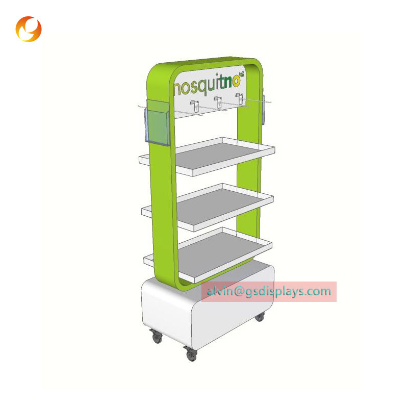 Retail Mosquito-repelling Products Shop Racks
