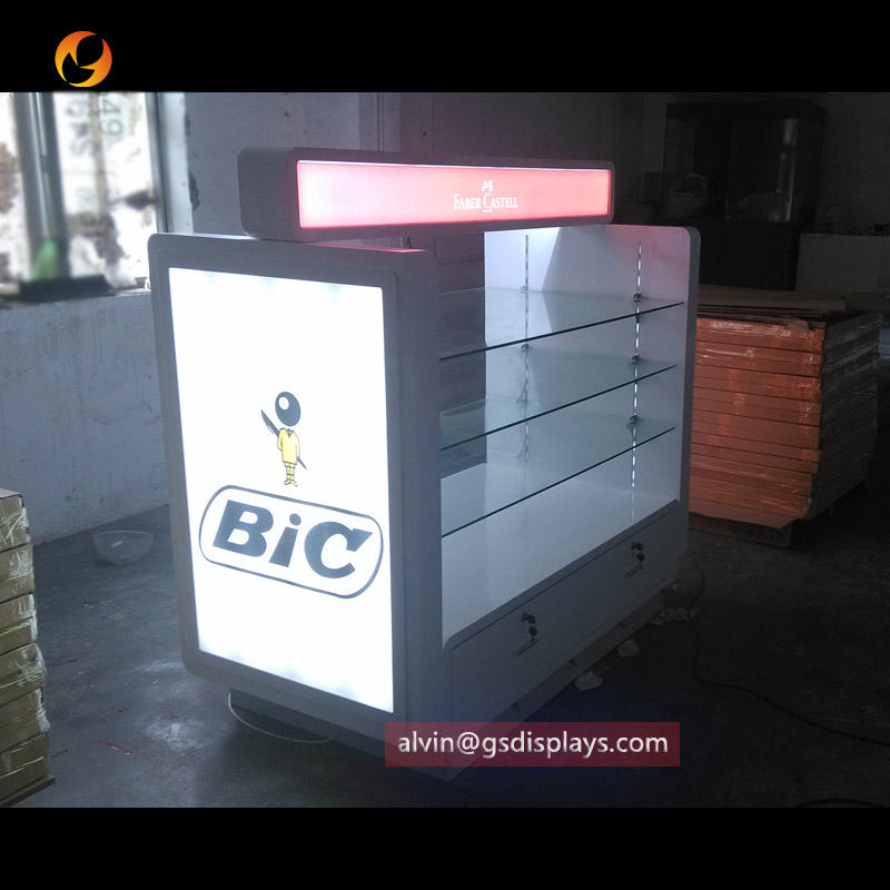 Stationary Store Floor Standing Display Counters