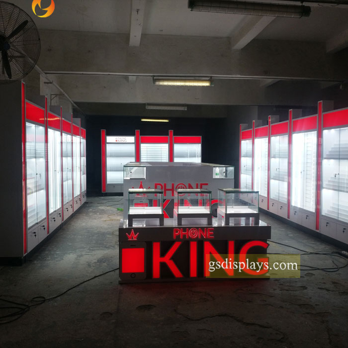 Top End Phone Store Display Showcases