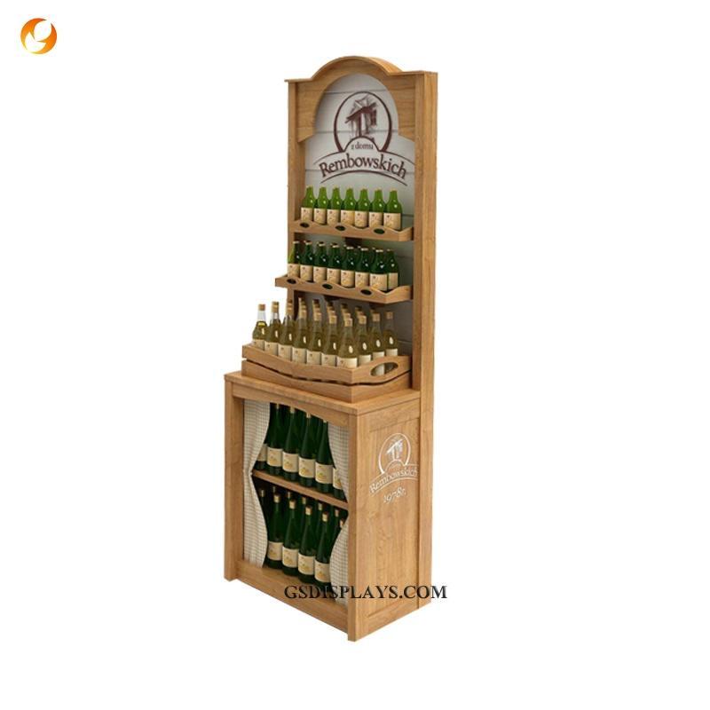 Wood Wine Store Racks