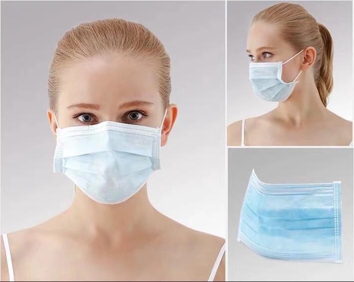 使い捨て不織布3層耳掛けマスク