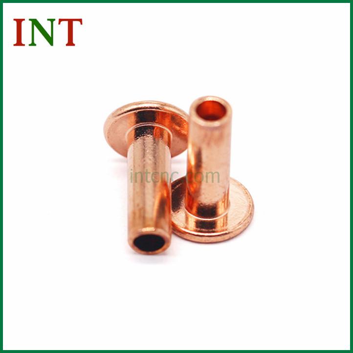 Hollow copper rivet