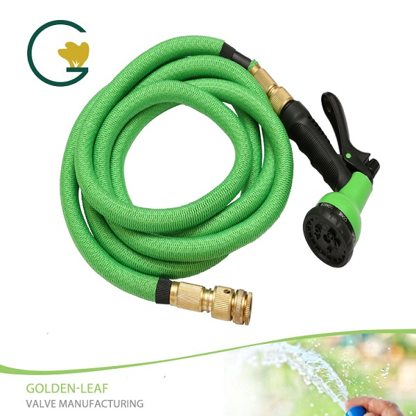 28FT Water Hose Spray Nozzle Expandable Flexible Garden Green