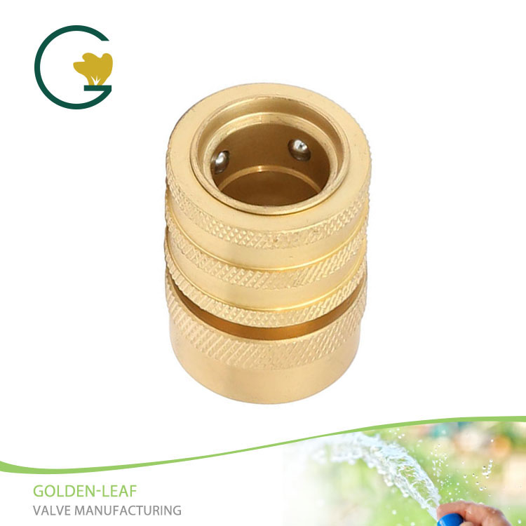 "3/4""Female Brass Quick Hose Connector With Water Stop"