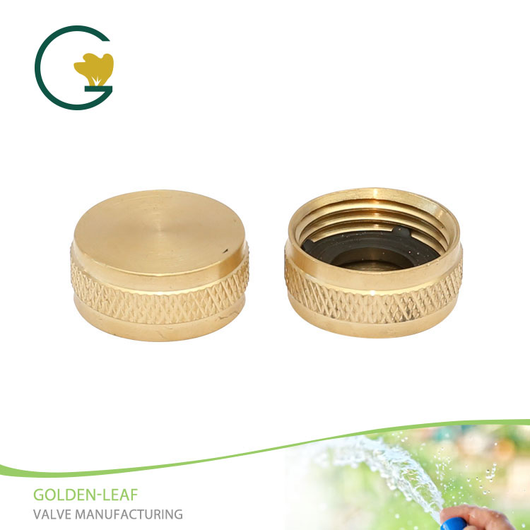 3/4 In. Brass Threaded Female Garden Hose End Caps