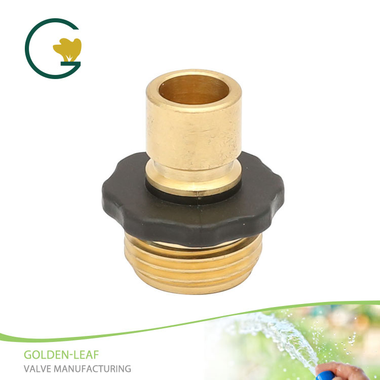 Brass Male Garden Hose Quick Connect Fitting With Rubber