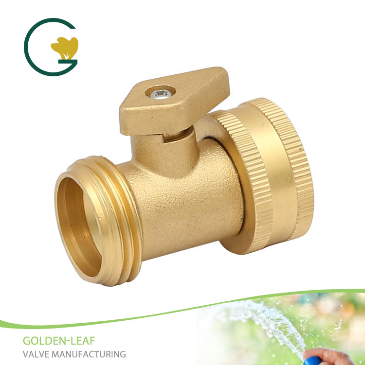 Brass Shut-off Connector With Copper Handle