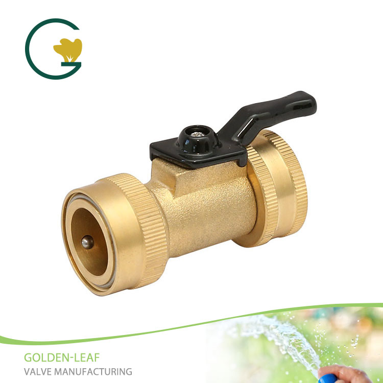 Brass Shut-Off Valve With Quick Connector