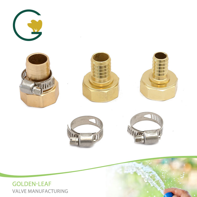 Female Aluminum Hose Coupling With Stainless Steel Clamp