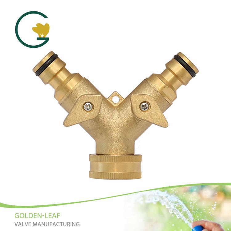 Závěsné mosazné ventily z kovové 2cestné ventilové hadice Y s rychlospojkou