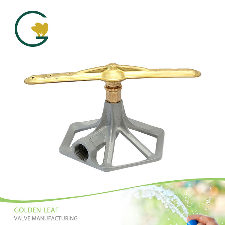 Metal Base With Brass 2 Arm Rotatory Sprinkler