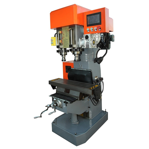 Vertical Double Spindle Drilling Tapping Cutting Machine