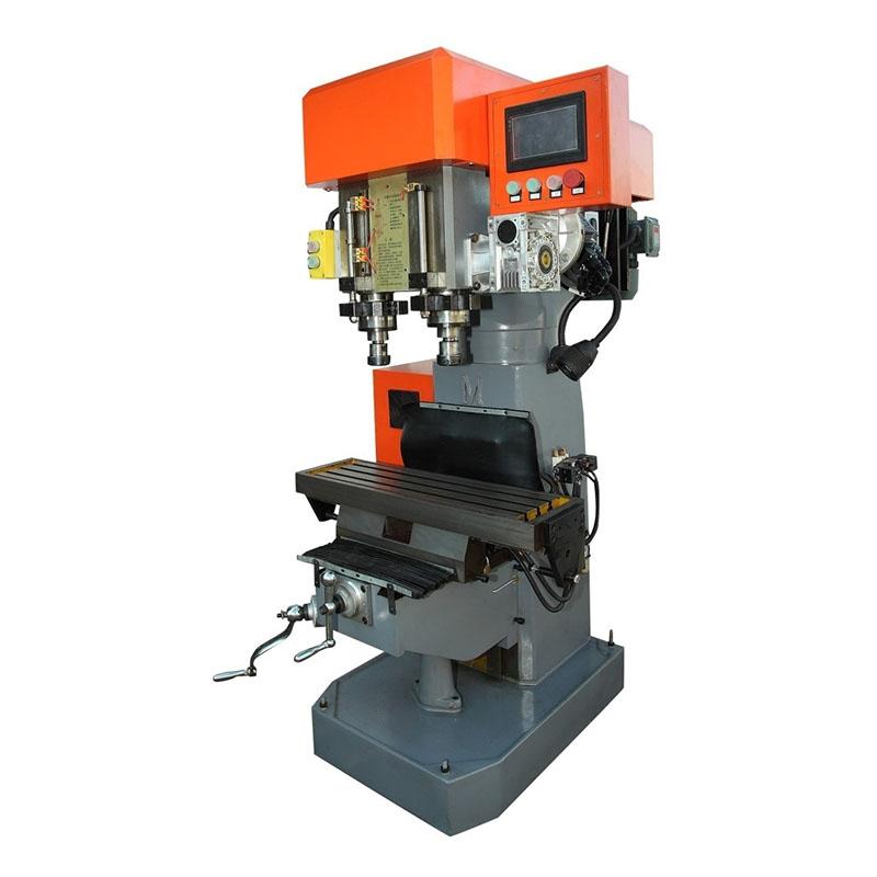 वर्टिकल डुअल एक्सिस ड्रिलिंग टैपिंग कंपाउंड मशीन