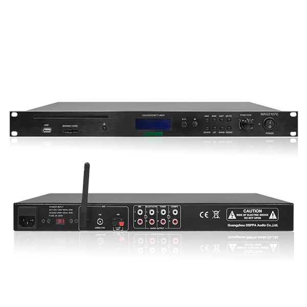 1U Integrated CD Player With USB/FM/Bluetooth