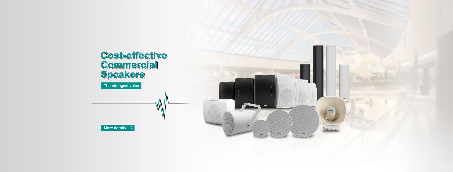 2 Zone Compact highly integrated voice alarm and public address system