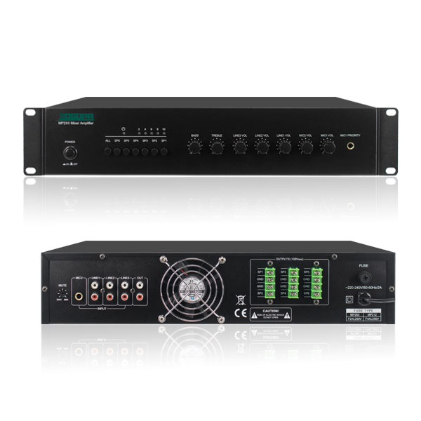 6 Zones Mixer Amplifier With Audio Input