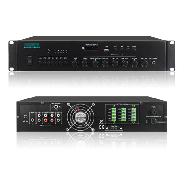 6 Zones Mixer Amplifier With MP3/FM/USB/SD